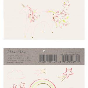 """Tattoo """"Einhorn mit Blumen"""""""