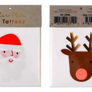 Rudolf & Santa Tattoos