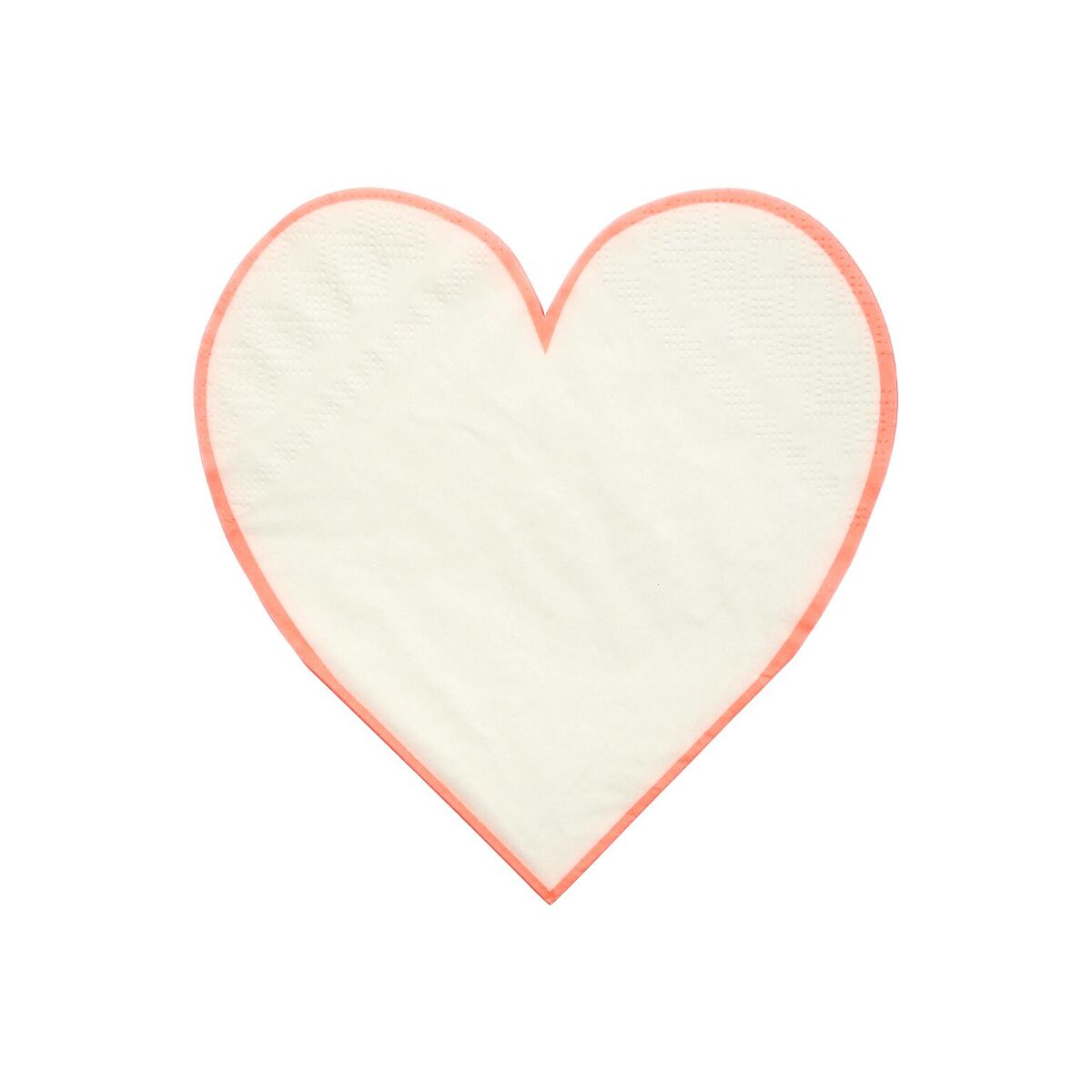 Coral Heart Serviette