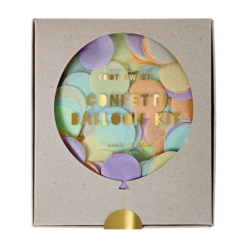 Konfetti-Ballon-Set-Pastelfarben