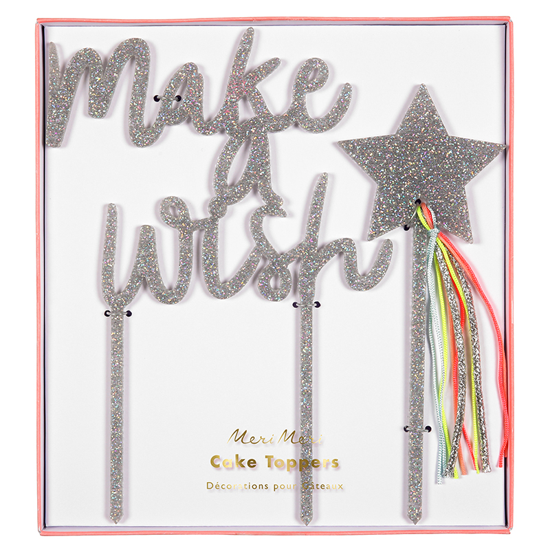 Kuchentopper-Make-a-wish-Glitzer