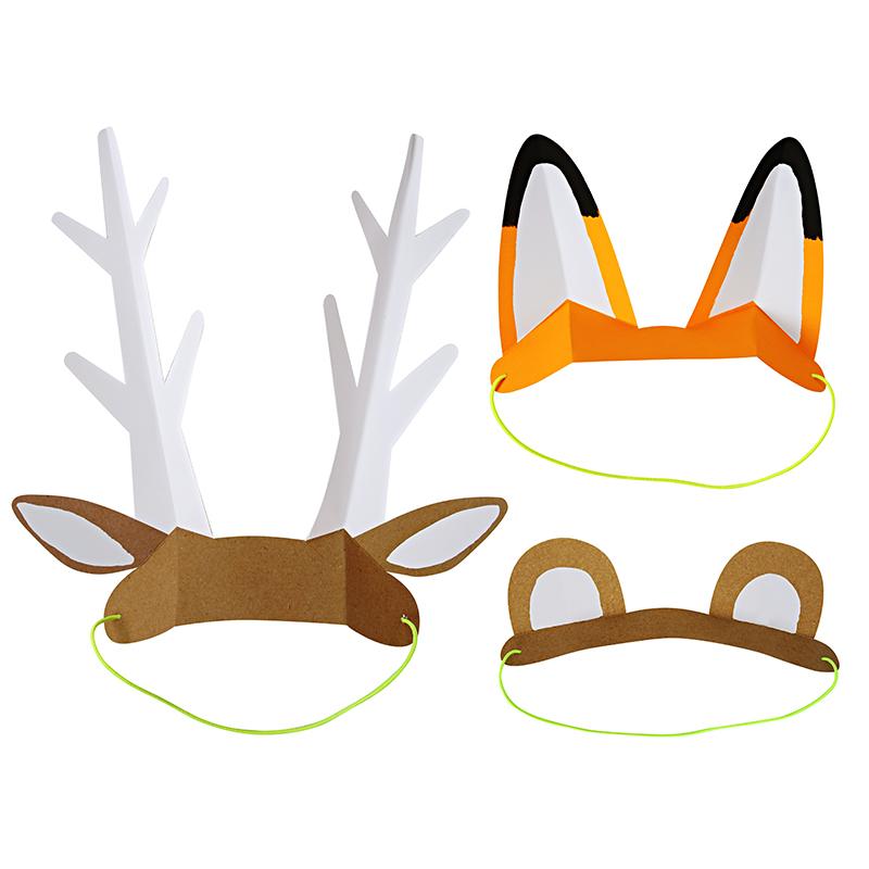 Partyohren-Waldtiere-Fuchs-Baer-hirsch