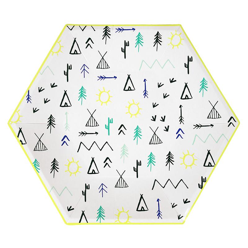 Meri-meri-Abenteuer-Wald-Partyteller