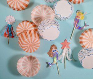 Meerjungfrauen Cupcake Set Meri Meri