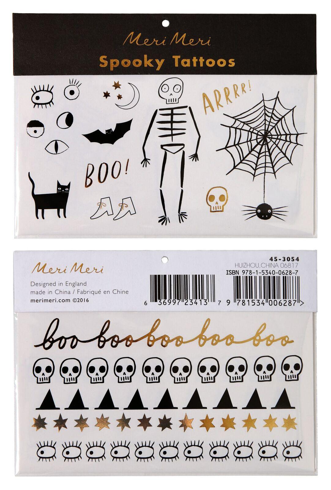 Meri Meri Spooky Tattoos