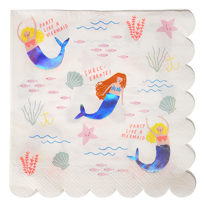 meerjungfrauen-servietten