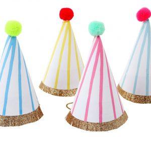 Partyhüte Streifen