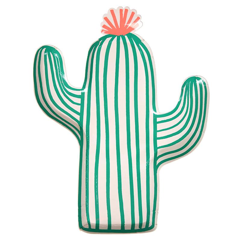 Kaktus Pappteller von Meri Meri