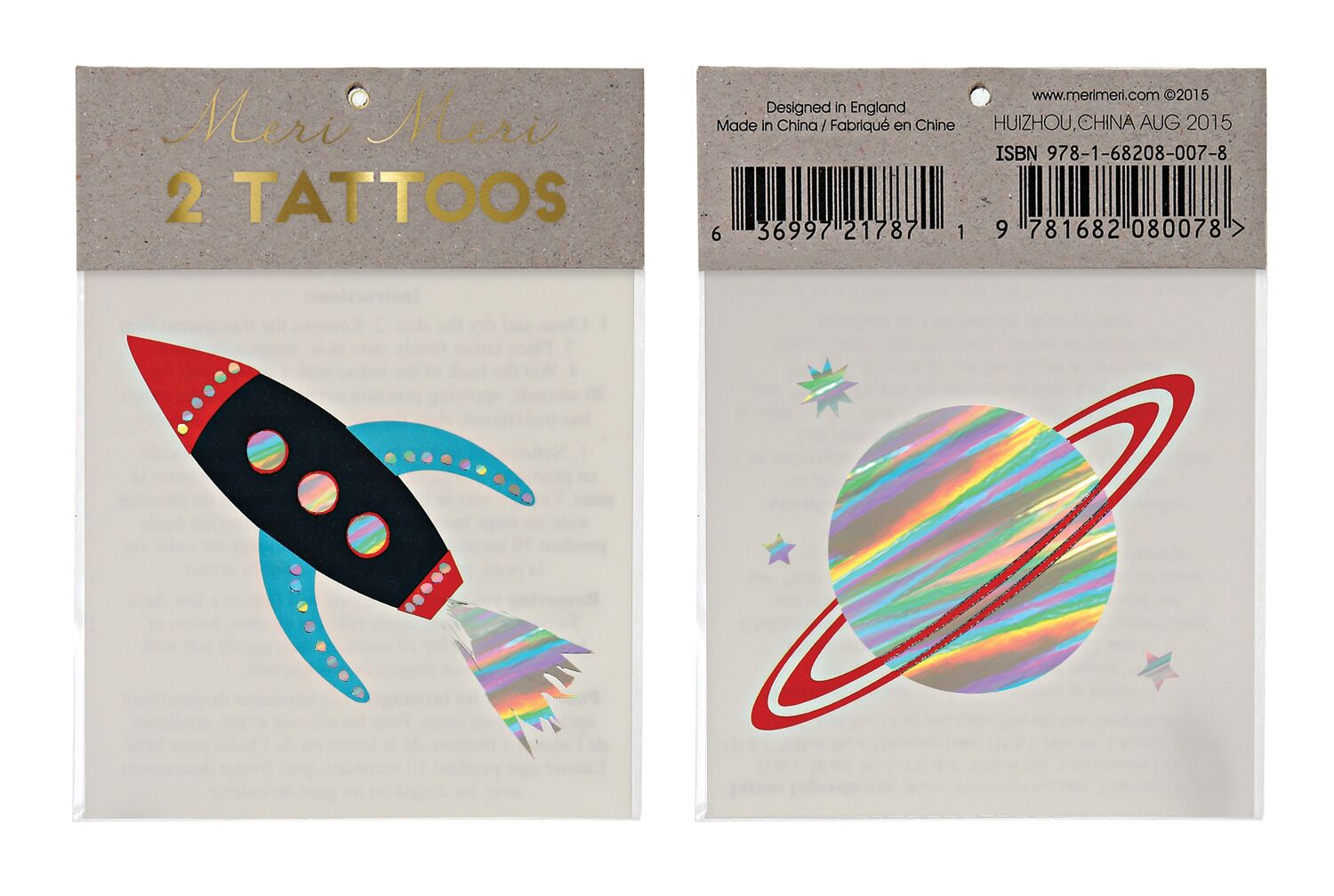 Spacecraft Tattoos Meri Meri