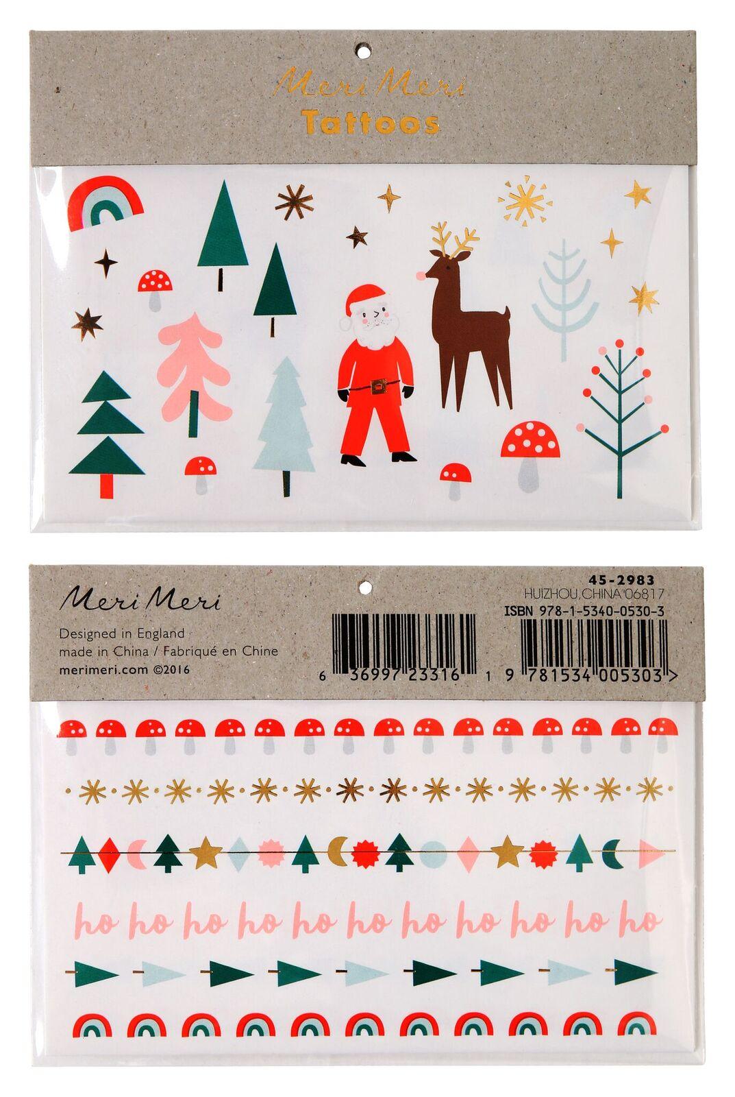 Weihnachtstattoos Meri Meri