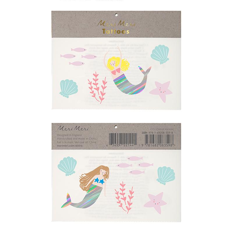 Meri-Meri-Meerjungfrauen-Tattoos